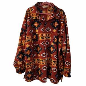 Men's Aztec Southwestern fleece jacket